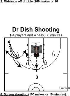 2. Midrange off dribble (100 makes or 10 Dr Dish Shooting 1-4 players and 4