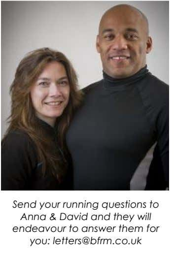 Send your running questions to Anna & David and they will endeavour to answer them