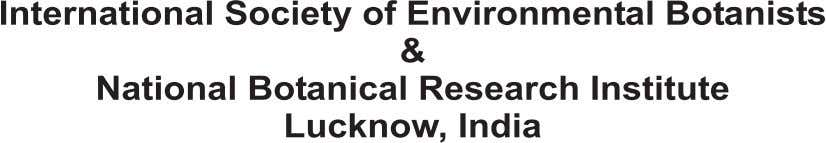 Fourth International Conference on Plants & Environmental Pollution 8-11 8-11 December December , , 2010 2010