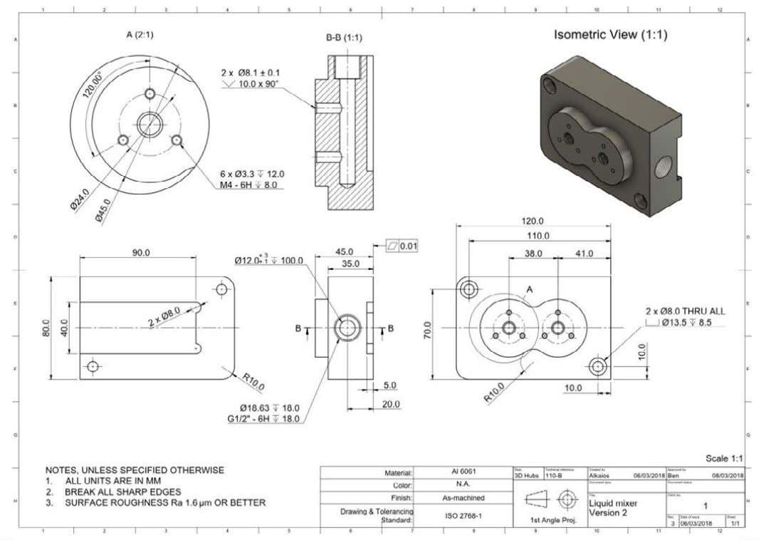 Step 2: Prepare a technical drawing A technical drawing is not always required for machining parts