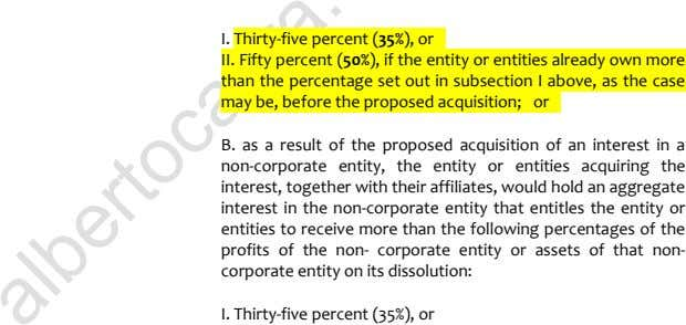 I. Thirty-five percent (35%), or 