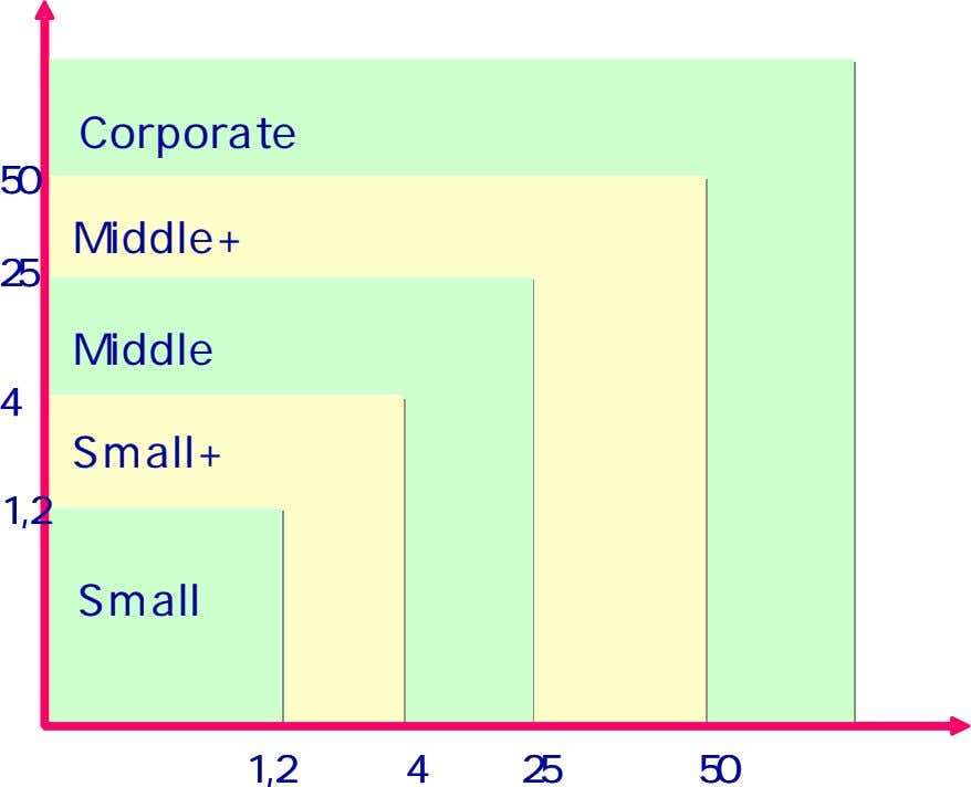 Corporate Corporate 50 50 Middle+ Middle+ 25 25 Middle Middle 4 4 Small+ Small+ 1,2