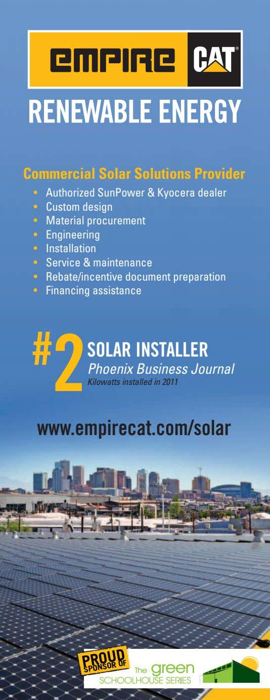 Commercial Solar Solutions Provider # 2 SOLAR INSTALLER Phoenix Business Journal Kilowatts