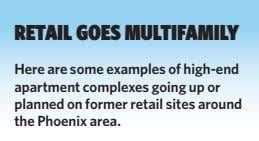 RETAIL GOES MULTIFAMILY Here are some examples of high-end apartment complexes going up or planned