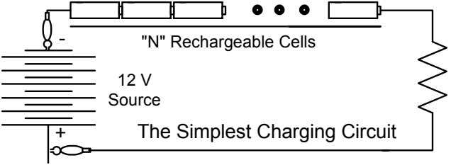 "- ""N"" Rechargeable Cells 12 V Source + The Simplest Charging Circuit"