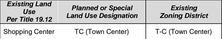 Land Use Designation TC (Town Center) TC (Town Center) Existing Zoning District T-C (Town Center) T-C