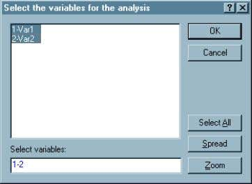 3 8. Click 'one variable list' or 'two variable list' a. For one variable list select