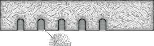 4. A naturally ventilated office with a width of 4 m. Fig. 5. Mesh used in