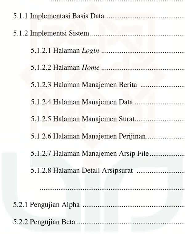 5.1.1 Implementasi Basis Data 5.1.2 Implementsi Sistem 5.1.2.1 Halaman Login 5.1.2.2 Halaman Home 5.1.2.3 Halaman