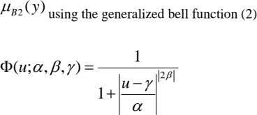 ( y )  B 2 using the generalized bell function (2) 1  u
