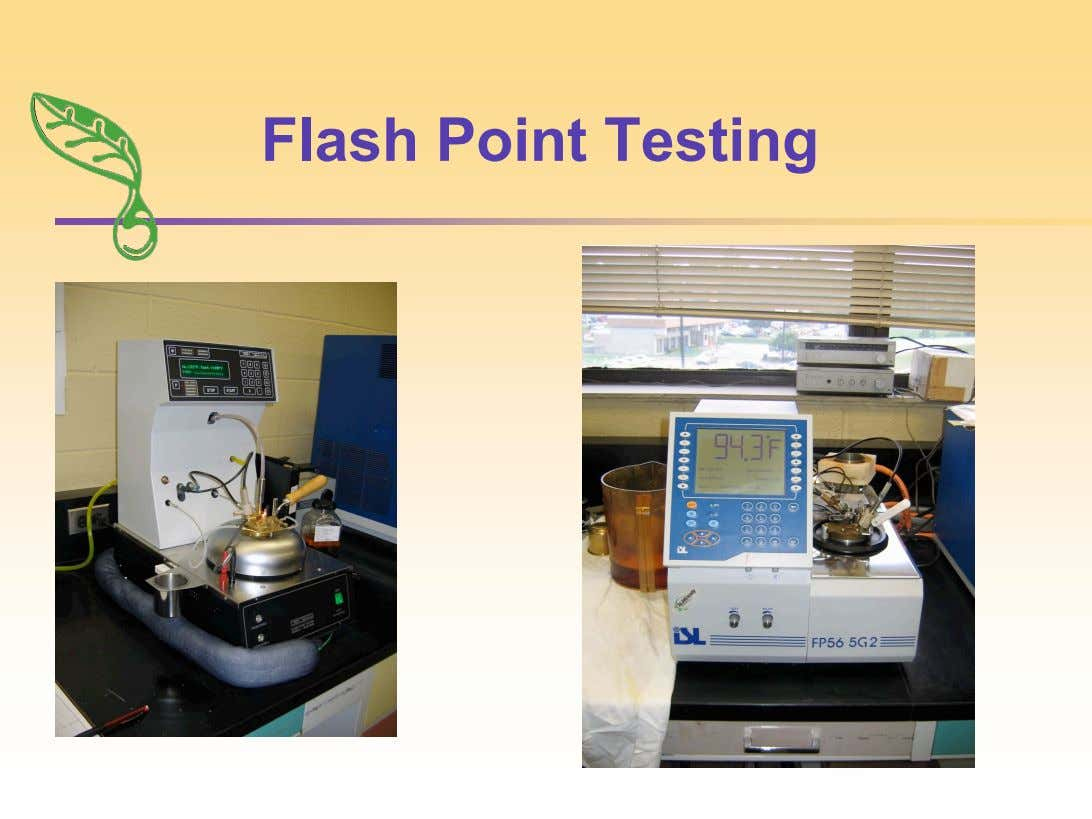 Flash Point Testing