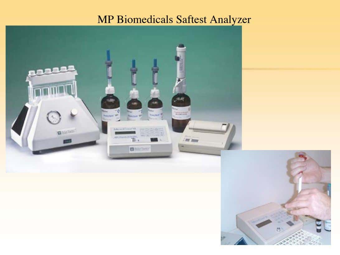 MP Biomedicals Saftest Analyzer