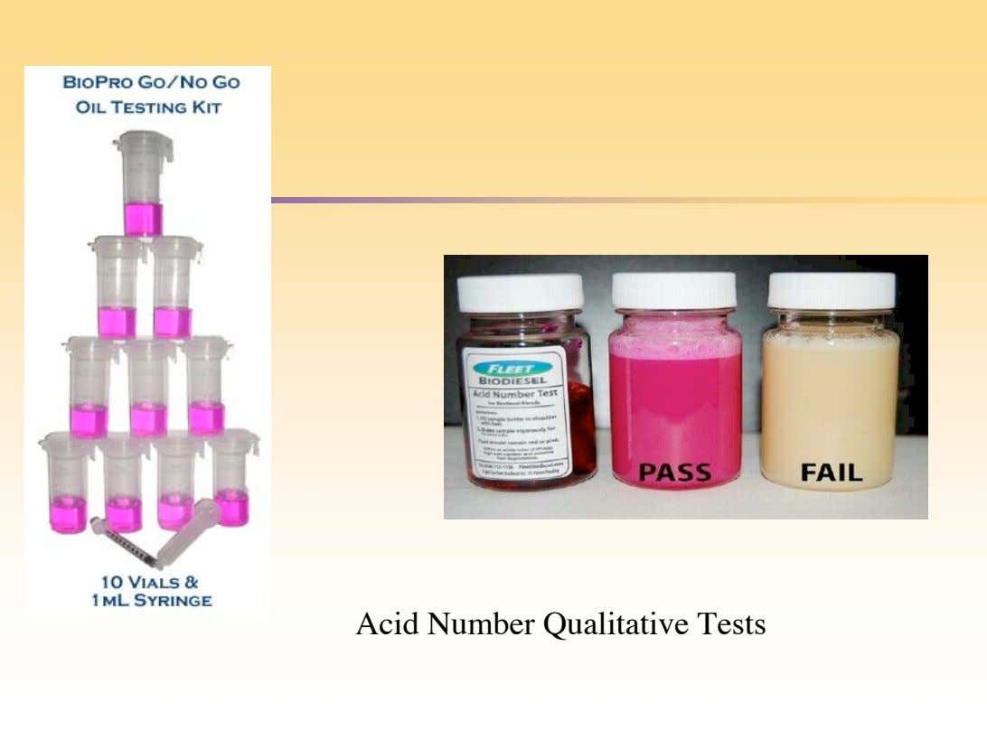 Acid Number Qualitative Tests