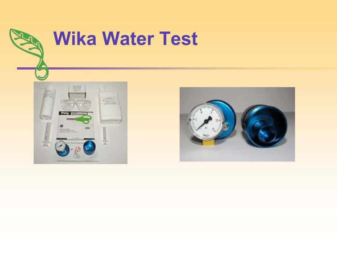 Wika Water Test