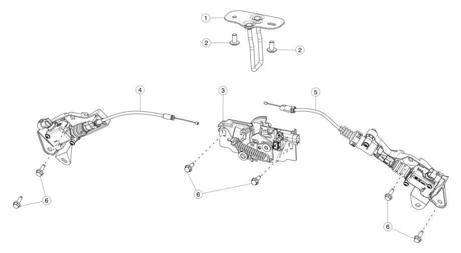 > Hood Latch And Release # PART PART NUMBER UNIT PRICE () QUANTITY 1 M3S HOOD