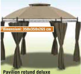 dimensiuni: 350x350x265 cm Pavilion rotund deluxe Pavilion rotund deluxe