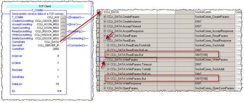 "are used must match the ""DataLen"" parameter. Figure 2-6 To use more data than 100 byte,"