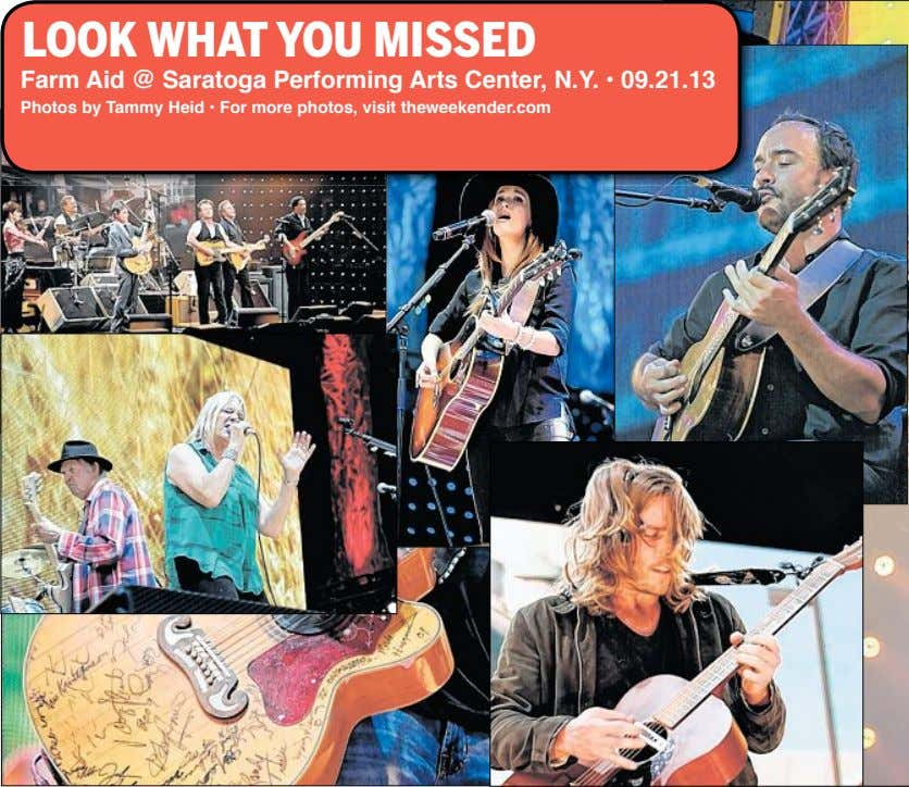 LOOK WHAT YOU MISSED Farm Aid @ Saratoga Performing Arts Center, N.Y. • 09.21.13 Photos