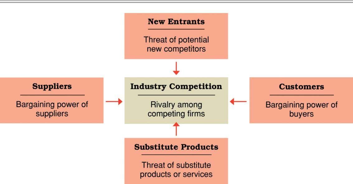 Source : Developed from Michael E. Porter, Competitive Strategy (NewYork: Free Press, 1980).