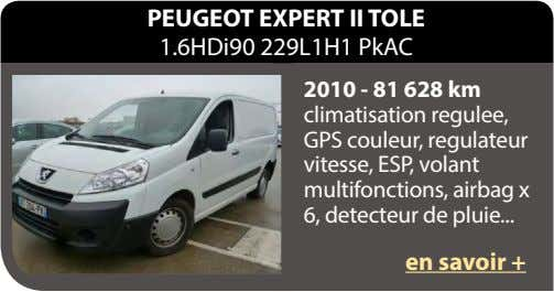 PEUGEOT EXPERT II TOLE 1.6HDi90 229L1H1 PkAC 2010 - 81 628 km climatisation regulee, GPS