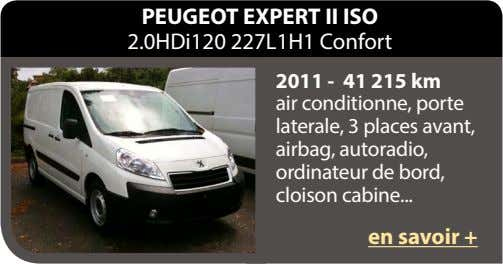 PEUGEOT EXPERT II ISO 2.0HDi120 227L1H1 Confort 2011 - 41 215 km air conditionne, porte