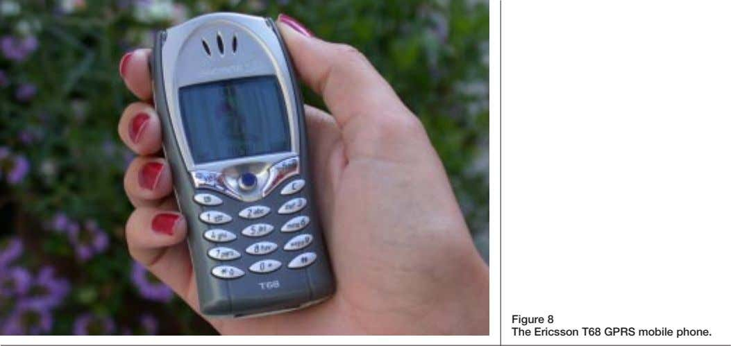 Figure 8 The Ericsson T68 GPRS mobile phone.