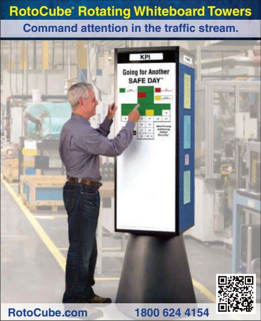 RotoCube ® Rotating Whiteboard Towers Command attention in the traffic stream. RotoCube.com 1800 624 4154