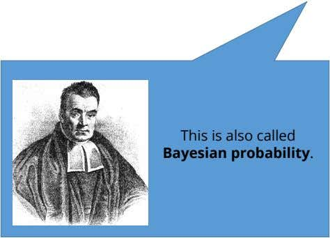 This is also called Bayesian probability.