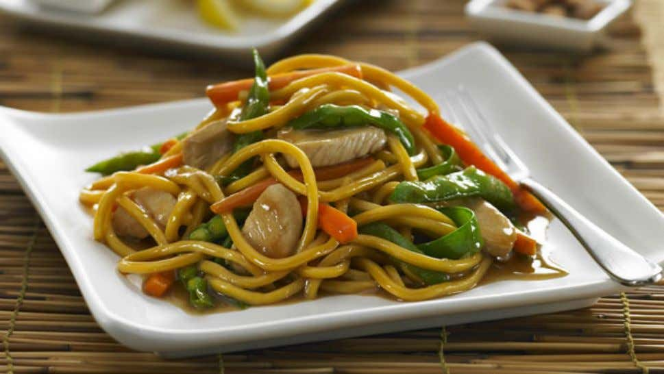 Honey Soy Chicken Stir Fry Ingredients 1 x 440g packet hokkein noodles 1 tbsp oil 500g