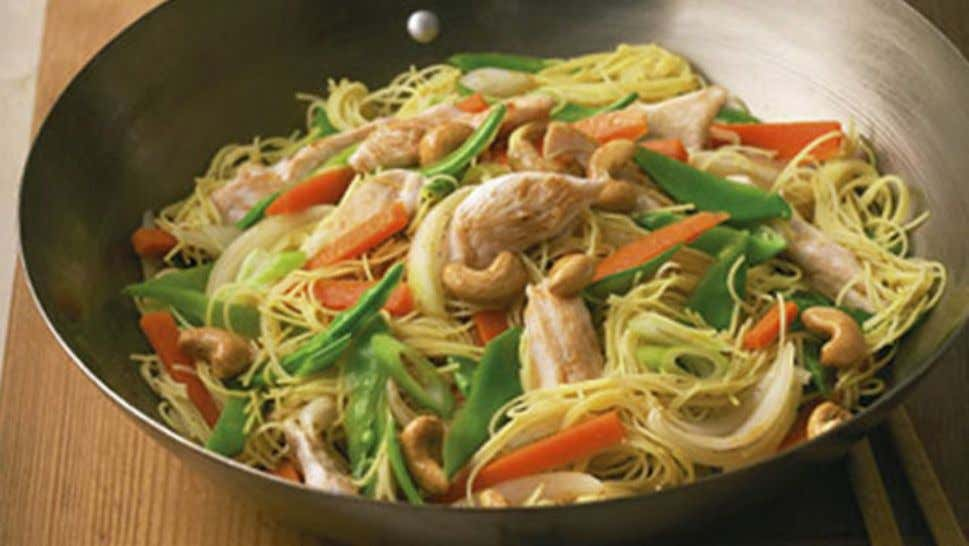 Chicken and Cashew Singapore Noodles Ingredients 375ml pack Campbell's Real Stock – Chicken 125g rice vermicelli