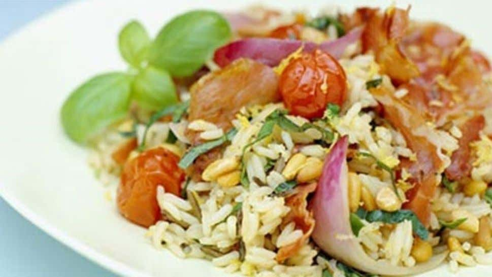 Roasted Tomato and Pancetta Rice Salad Ingredients 1 x 500ml pack Campbell's Real Stock- Vegetable 1