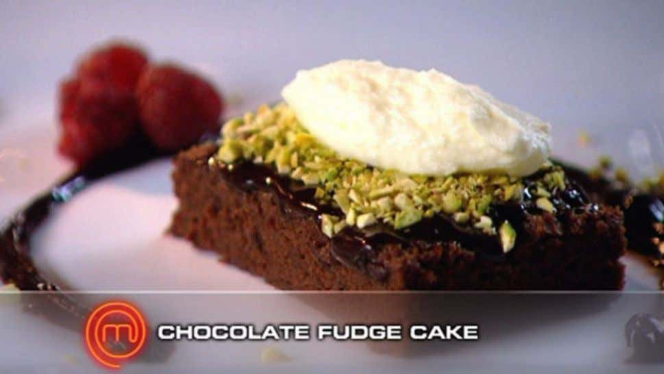 Chocolate Fudge Cake Ingredients 100g chocolate 100g unsalted butter 3 eggs, separated 150g castor sugar 50g