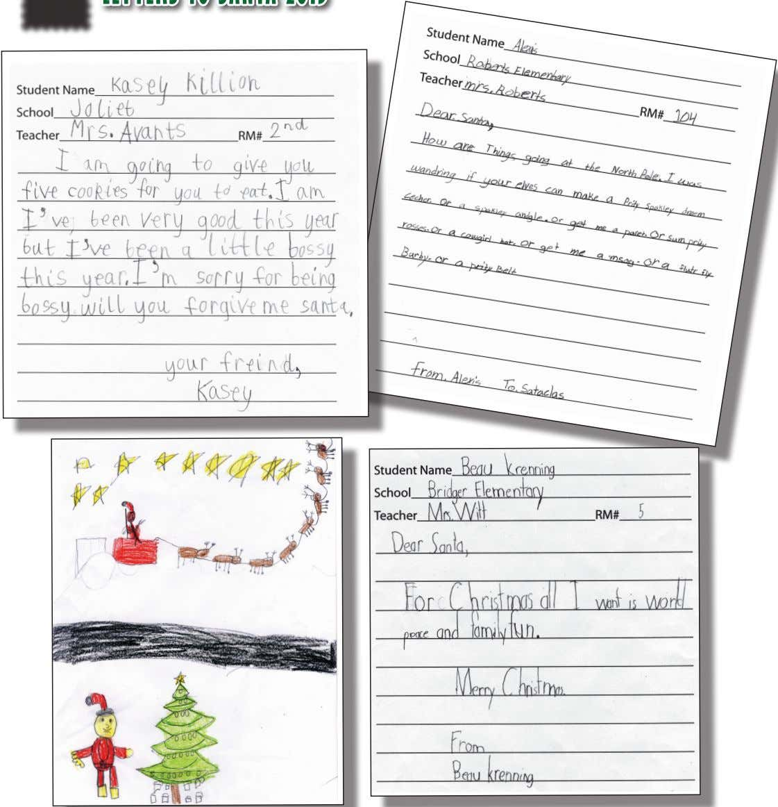 LETTERS TO SANTA 2013 14 — December 19, 2013 A Special publication of The Carbon County