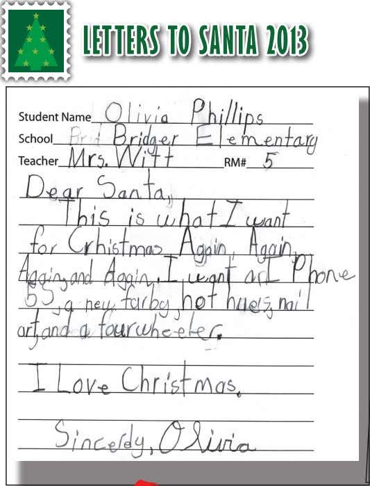 LETTERS TO SANTA 2013