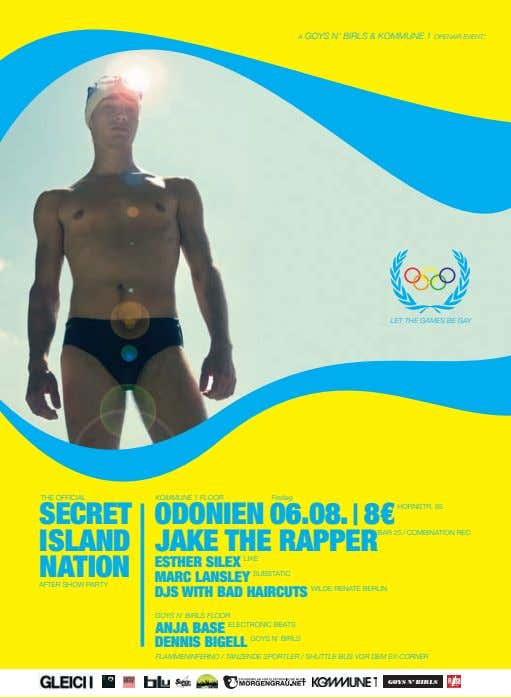 A GOYS N' BIRLS & KOMMUNE 1 OPENAIR EVENT: LET THE GAMES BE GAY THE