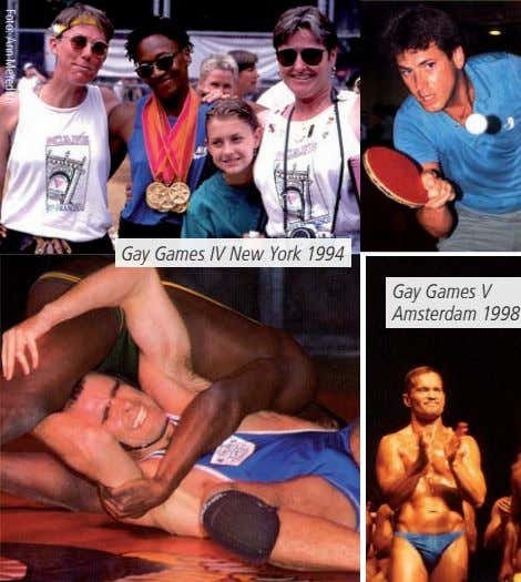 Gay Games IV New York 1994 Gay Games V Amsterdam 1998 Foto: Ann Meredith