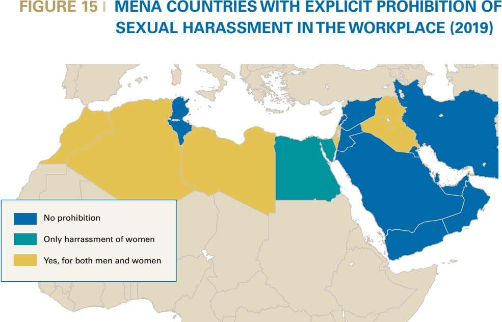 FIGURE 15 l MENA COUNTRIES WITH EXPLICIT PROHIBITION OF SEXUAL HARASSMENT IN THE WORKPLACE (2019)