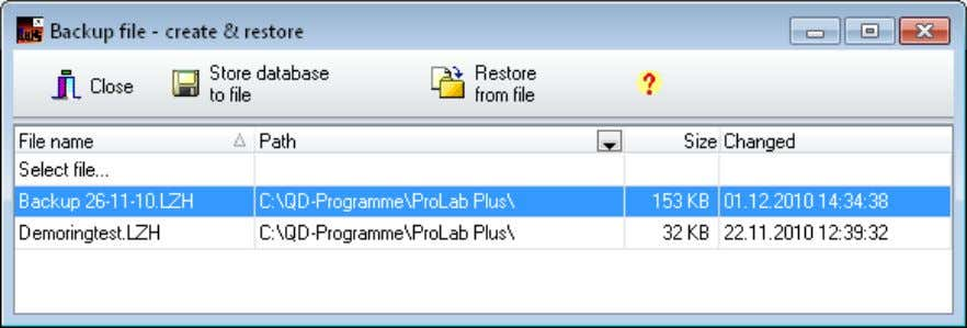 to a folder of your choosing by using the following tab. Figure 7: File – Backup