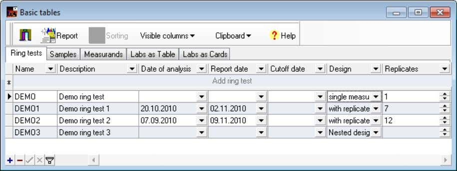 tests that are opened in the Edit mode (see section 5). Figure 11: Database – Basic