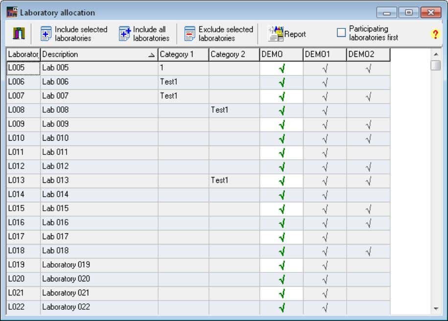 ProLab Plus – Manual . Menu Database 33 Figure 16: Database – Structure of ring test