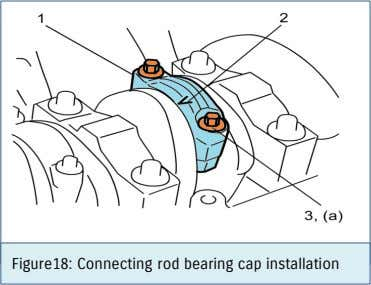 Figure18: Connecting rod bearing cap installation