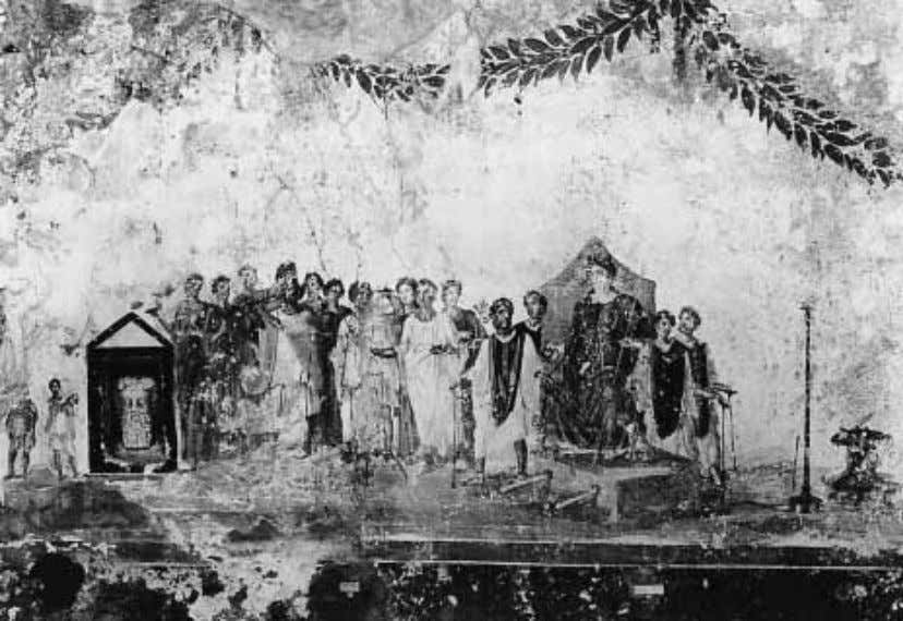 FIGURE 48 Pompeii, Shop of the Procession to Cybele. Procession to Cybele. FIGURE 49 Pompeii,
