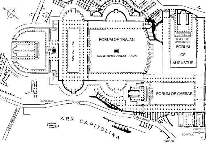 FIGURE 12 Rome, plan of Imperial Fora. over one million inhabitants. 2 2 Under Trajan,
