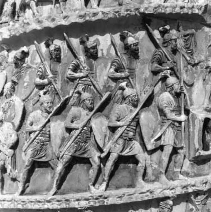 FIGURE 21 Rome, Column of Marcus Aurelius, LXVII. Soldiers on the march. ABSTRACTION, EMPATHY, AND