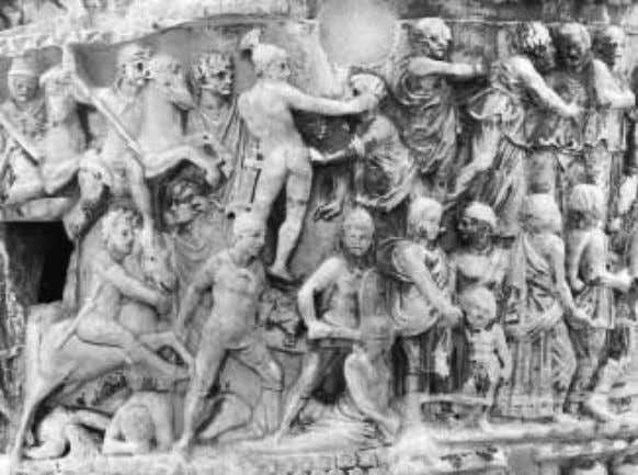 of Marcus Aurelius, LXXIX. Pursuit of barbarian women. What is new are images of the horrors