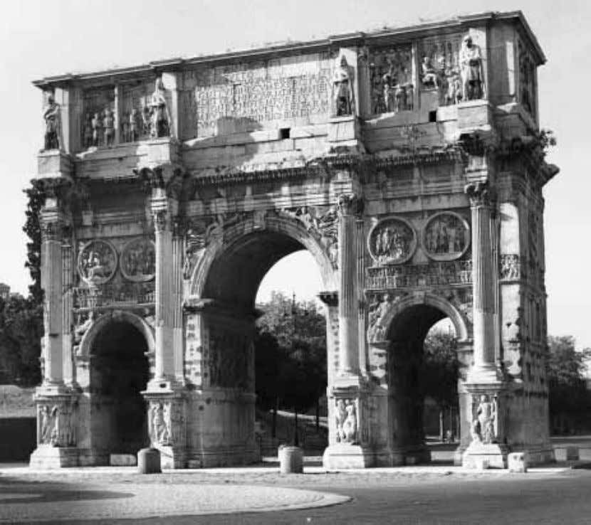 FIGURE 27 Rome, Arch of Constantine, view from north. Constantinian decorative program (with the exception