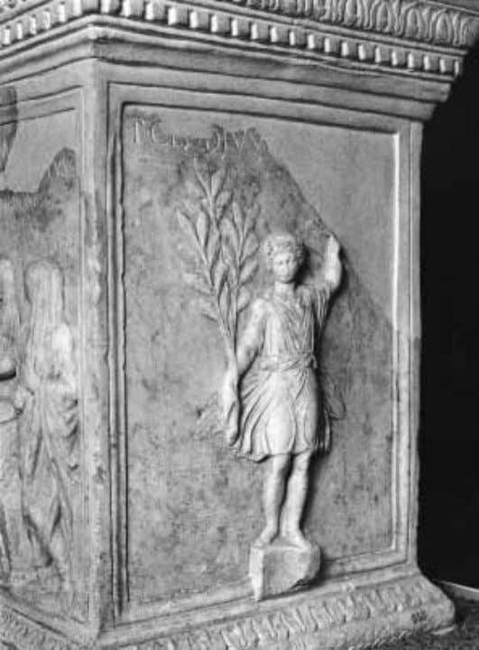 FIGURE 45 Rome, Altar of the Vicus Aesculeti, right side. Lar. borhood's security have won
