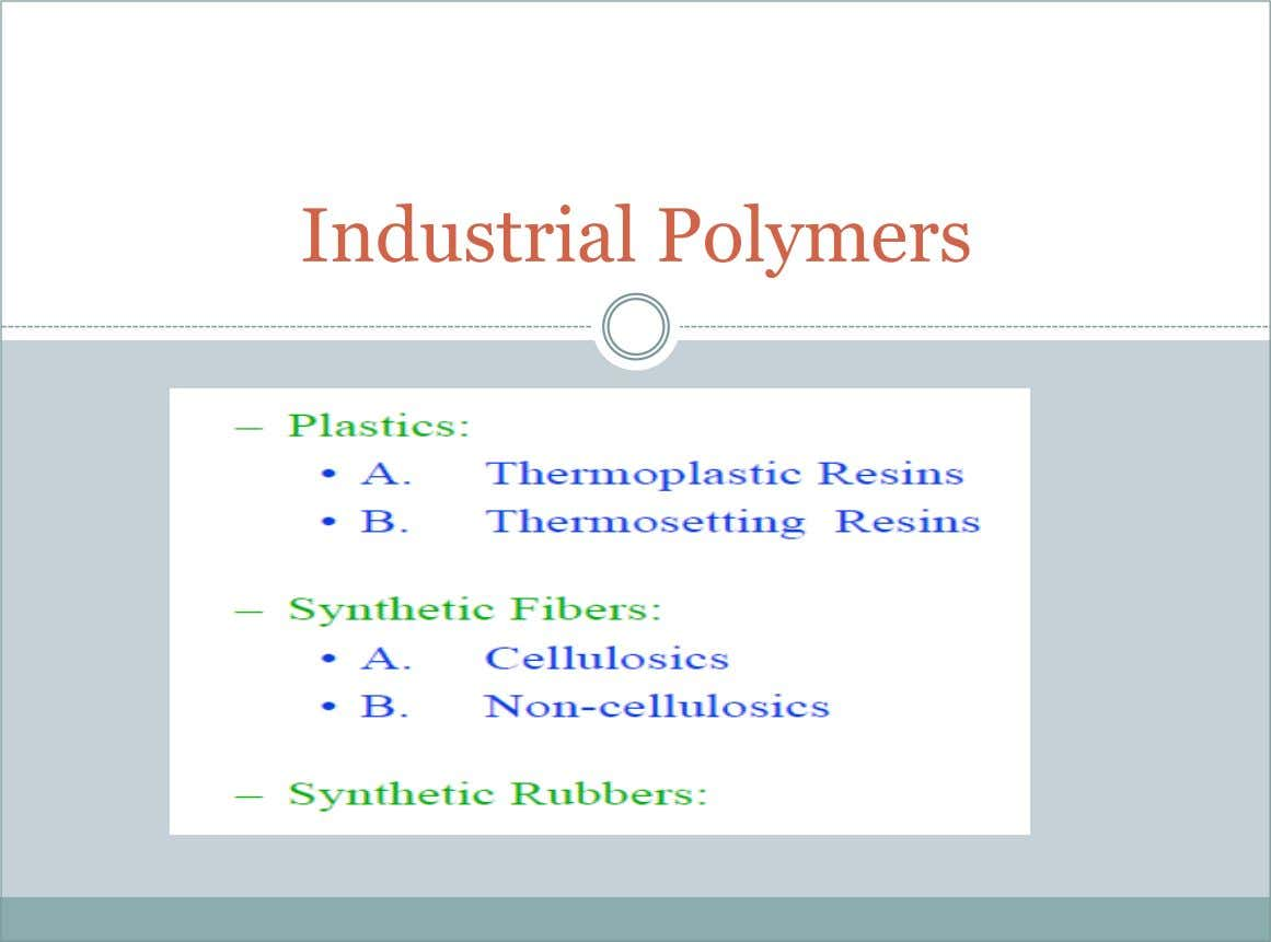 Industrial Polymers