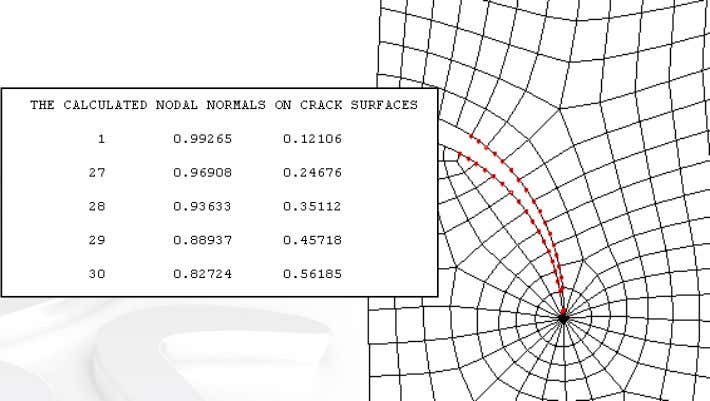 Integral Calculations • Example: sharp curved crack Contour # 1 2 3 4 5 J without