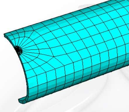 since these solid elements include loading contributions to contour integrals. Modeling Fracture and Failure with Abaqus